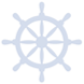 Icon of a boat wheel